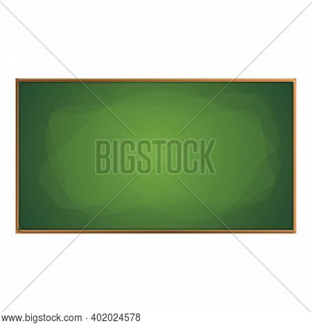 Wooden Chalkboard Icon. Cartoon Of Wooden Chalkboard Vector Icon For Web Design Isolated On White Ba
