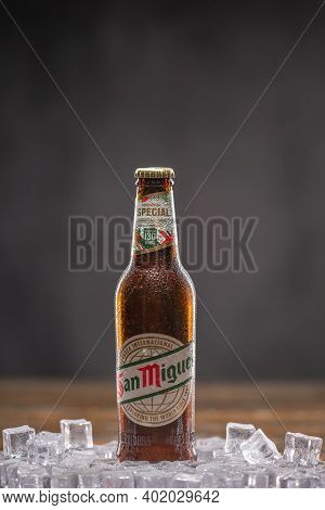 San Miguel Beer Refers To San Miguel Pale Pilsen, A Filipino Pale Lager. Uk, Bedford, January 4, 202