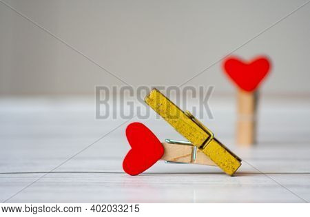 Concept Of Marital Infidelity. Betrayal And Broken Heart Symbol. Infidelity As A Problem Of The 21st