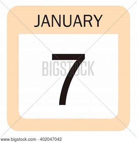 January Calendar Icon, Icon Calendar, New Year Calendar January 2021, Vector Eps 10