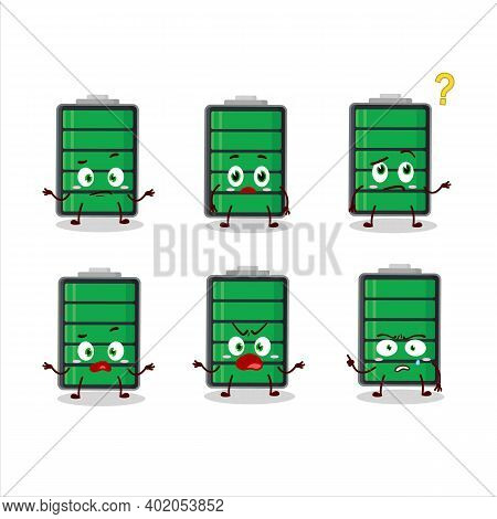 Cartoon Character Of Fully Charge Battery With What Expression