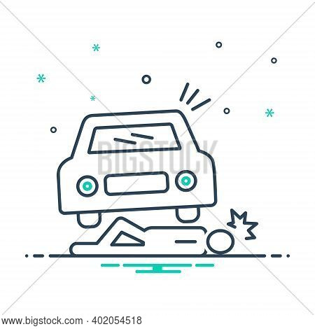 Mix Icon For Accidental Death Accidental Death Lying Injured Careless  Insurance