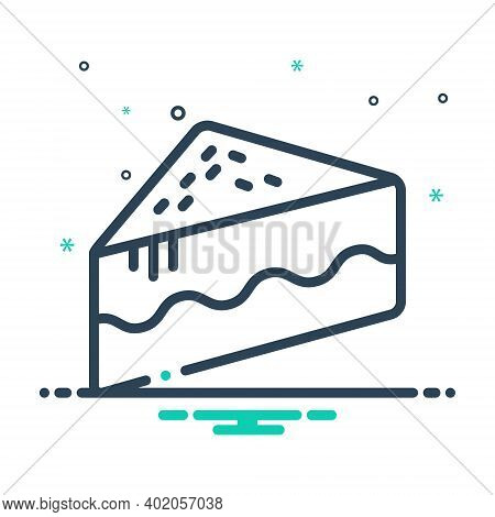 Mix Icon For Piece Of Cake Piece Cake  Slices Cutting Pastry Bakery Yummy