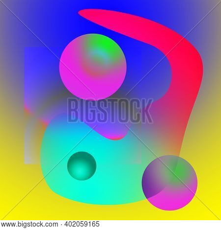 Contemporary Art Abstract Background With Geometric Elements And Pattern. Digital Texture Backdrop.