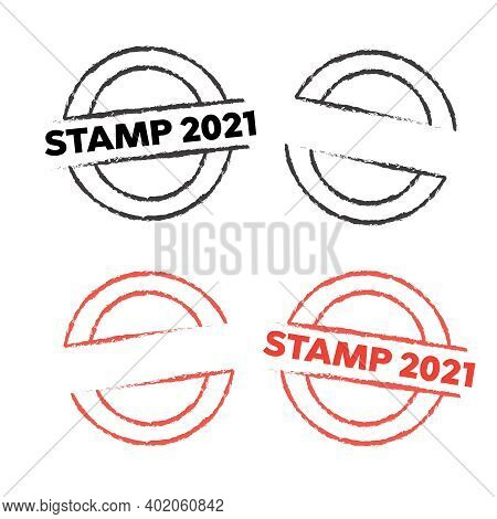 Stamp Set. Set Of Retro Stamps And Badges. Grunge Rubber Stamp. Circle Stamps