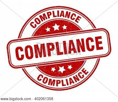 Compliance Stamp. Compliance Round Grunge Sign. Label