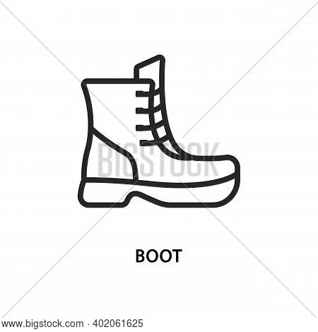Boot Flat Line Icon. Vector Illustration Shoes.