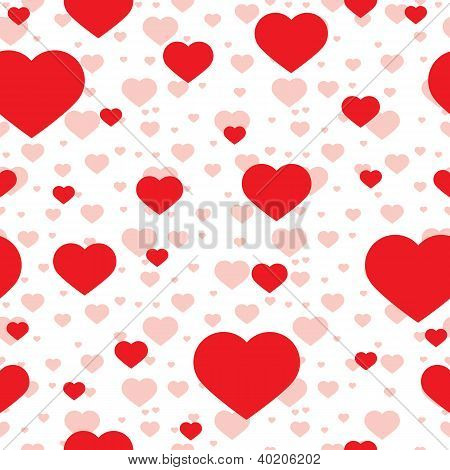 vector seamless pattern of heart, abstract background