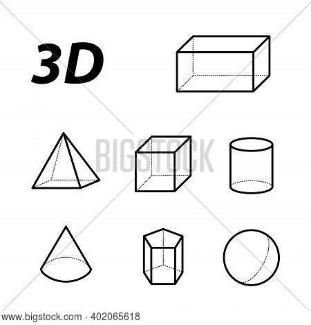 Geometry Icon Set Isolated On White Background From Education Collection. Geometry Icon Trendy And M