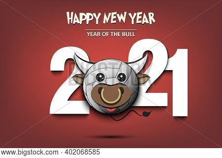 2021 And Volleyball Ball Made In The Form Of Bull