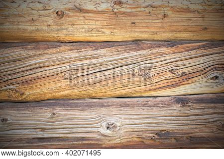 Old Brown Shabby Vintage Wooden Board Background