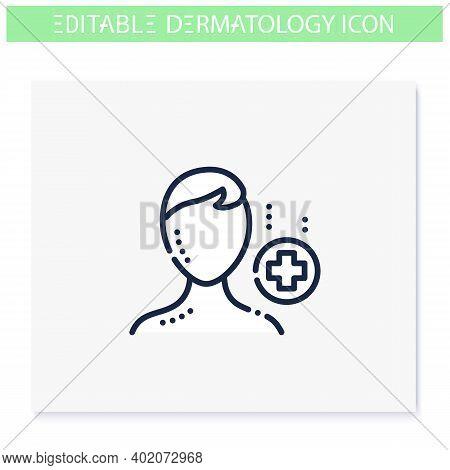 Pediatric Dermatology Line Icon. Skincare, Cosmetology, Medicine. Child Skin Problems, Dermatologic
