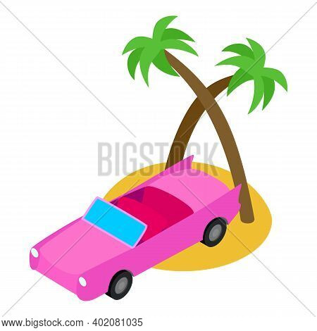 Honeymoon Vacation Icon. Isometric Illustration Of Honeymoon Vacation Vector Icon For Web