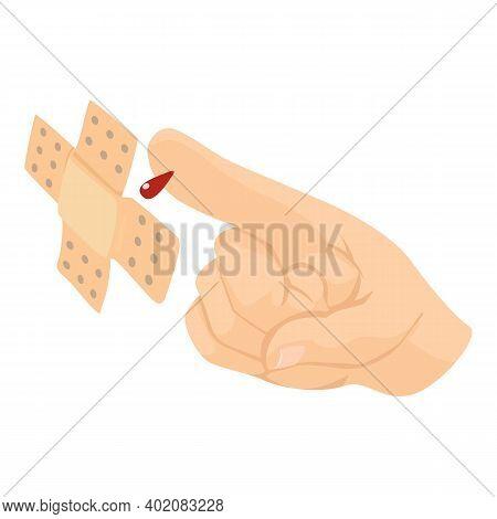 Damaged Finger Icon. Isometric Illustration Of Damaged Finger Vector Icon For Web