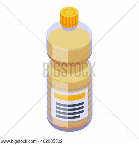 Canola Oil Fine Bottle Icon. Isometric Of Canola Oil Fine Bottle Vector Icon For Web Design Isolated