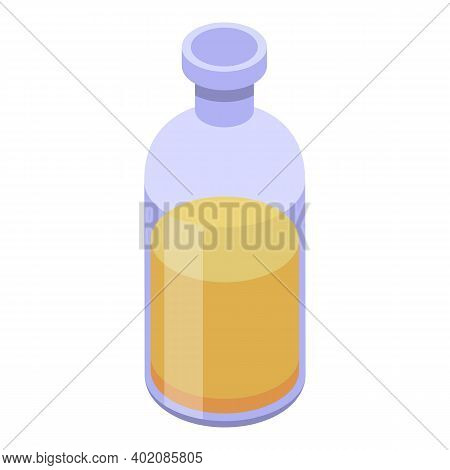 Canola Glass Bottle Icon. Isometric Of Canola Glass Bottle Vector Icon For Web Design Isolated On Wh