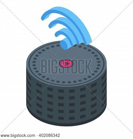 Smart Speaker Control Icon. Isometric Of Smart Speaker Control Vector Icon For Web Design Isolated O