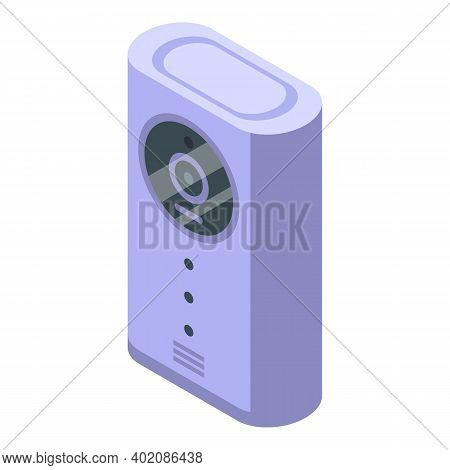 Indoor Camera Secured Control Icon. Isometric Of Indoor Camera Secured Control Vector Icon For Web D