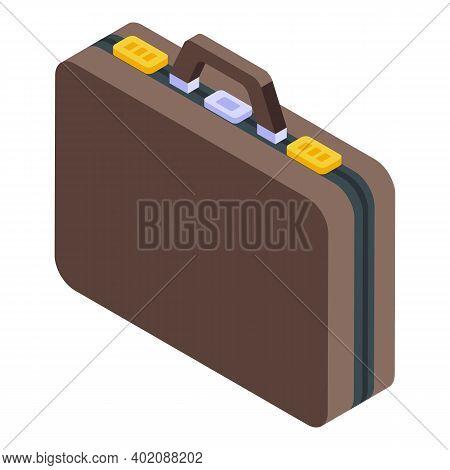 Portfolio Briefcase Icon. Isometric Of Portfolio Briefcase Vector Icon For Web Design Isolated On Wh