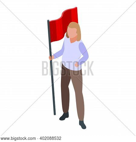 Red Flag Opportunity Icon. Isometric Of Red Flag Opportunity Vector Icon For Web Design Isolated On