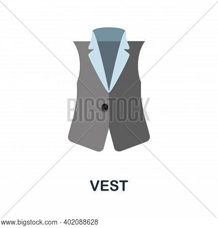 Vest Flat Icon. Color Simple Element From Clothes Collection. Creative Vest Icon For Web Design, Tem