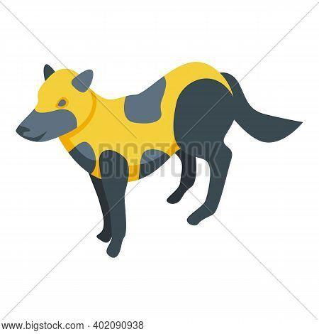 Spotted Fox Icon. Isometric Of Spotted Fox Vector Icon For Web Design Isolated On White Background