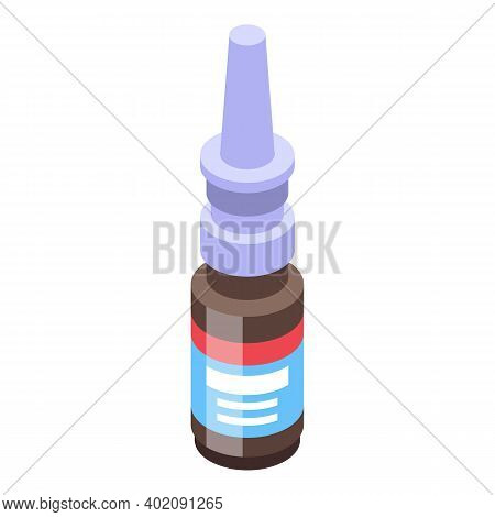 Drops From Common Cold Icon. Isometric Of Drops From Common Cold Vector Icon For Web Design Isolated