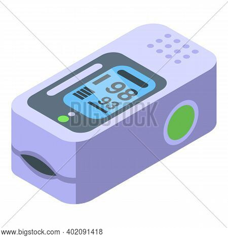Pulse Oximeter Icon. Isometric Of Pulse Oximeter Vector Icon For Web Design Isolated On White Backgr