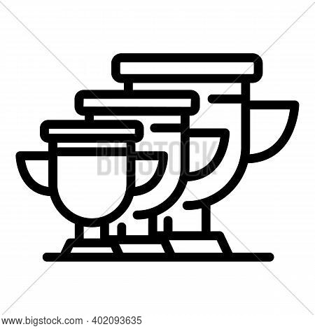 Goal Cups Effort Icon. Outline Goal Cups Effort Vector Icon For Web Design Isolated On White Backgro