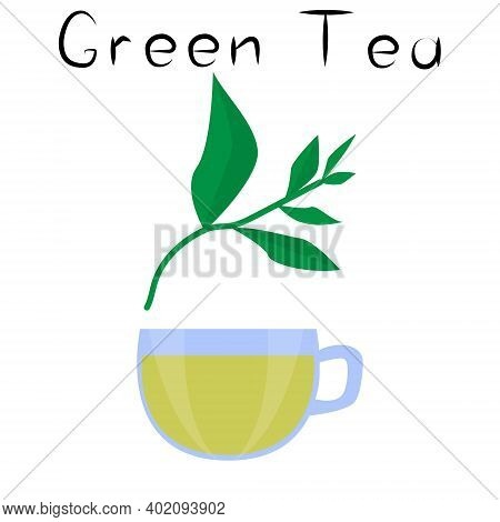 Green Tea. Healthy Detox Natural Product. Organik Dietary Supplement Drink. Superfood, Plant For Hom