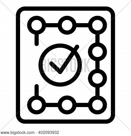 Approved Doc Credibility Icon. Outline Approved Doc Credibility Vector Icon For Web Design Isolated