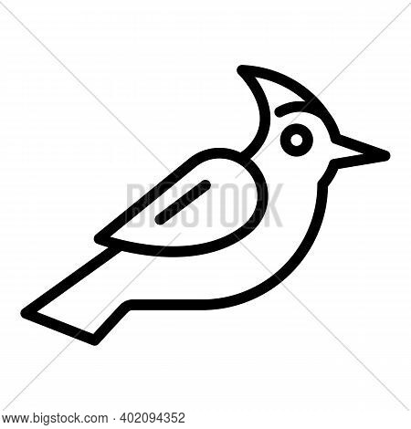 Woodpecker Icon. Outline Woodpecker Vector Icon For Web Design Isolated On White Background