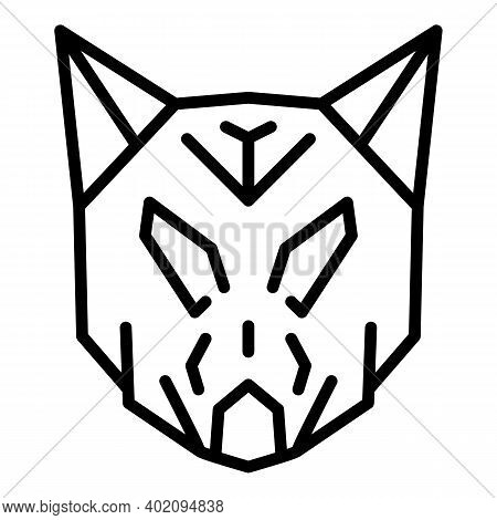 Nordic Wolf Icon. Outline Nordic Wolf Vector Icon For Web Design Isolated On White Background