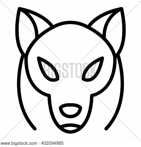 Tribal Wolf Icon. Outline Tribal Wolf Vector Icon For Web Design Isolated On White Background