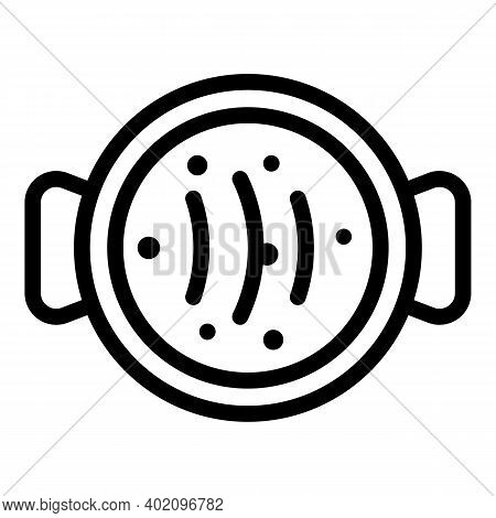 Saucepan Top View Icon. Outline Saucepan Top View Vector Icon For Web Design Isolated On White Backg