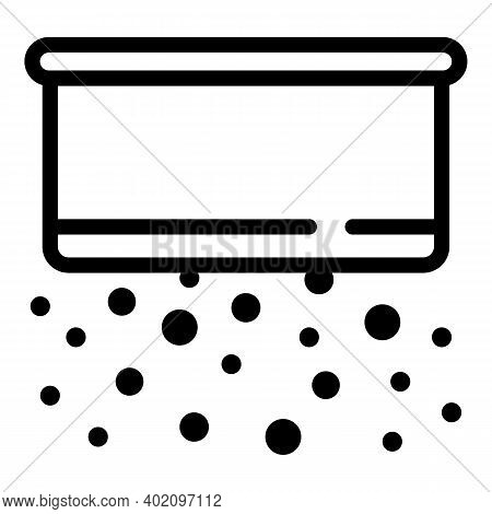 Kitchen Strainer Icon. Outline Kitchen Strainervector Icon For Web Design Isolated On White Backgrou