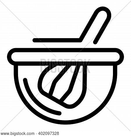 Kitchen Whisk Icon. Outline Kitchen Whisk Vector Icon For Web Design Isolated On White Background