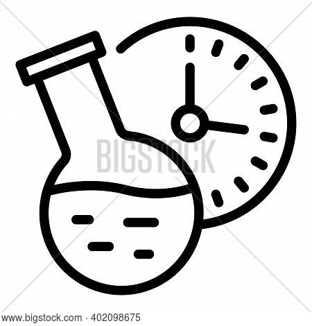 Chemical Flask Lesson Icon. Outline Chemical Flask Lesson Vector Icon For Web Design Isolated On Whi