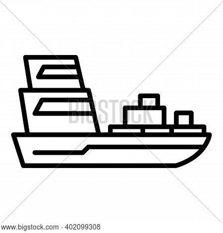 Passenger Ship Icon. Outline Passenger Ship Vector Icon For Web Design Isolated On White Background