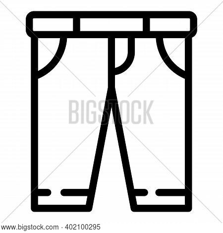 School Pants Icon. Outline School Pants Vector Icon For Web Design Isolated On White Background