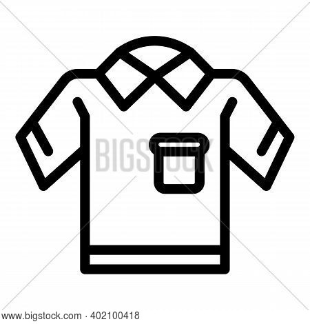 Primary School Uniform Icon. Outline Primary School Uniform Vector Icon For Web Design Isolated On W