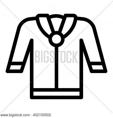 School Blouse Icon. Outline School Blouse Vector Icon For Web Design Isolated On White Background