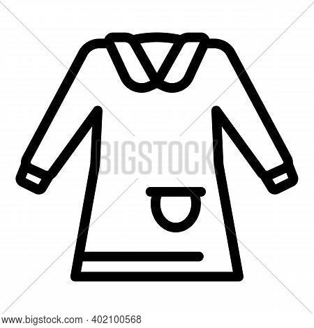 School Uniform Dress Icon. Outline School Uniform Dress Vector Icon For Web Design Isolated On White