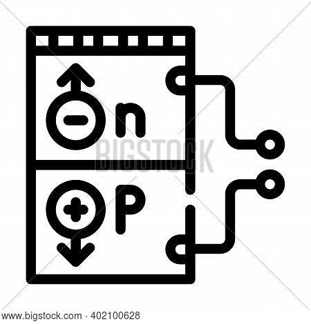 Working Principle Line Icon Vector Illustration Black