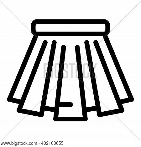 Student Uniform Skirt Icon. Outline Student Uniform Skirt Vector Icon For Web Design Isolated On Whi