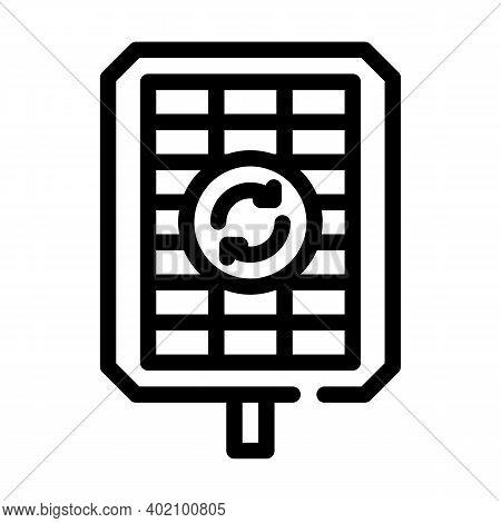Renewable Energy Line Icon Vector Illustration Black