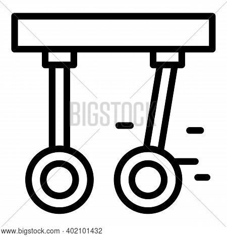 Gymnastic Rings Icon. Outline Gymnastic Rings Vector Icon For Web Design Isolated On White Backgroun