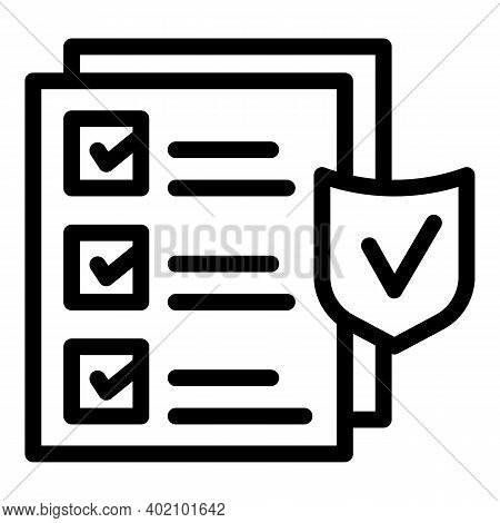 Security Actualization Icon. Outline Security Actualization Vector Icon For Web Design Isolated On W