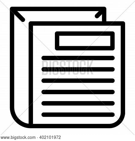 Actual Documentation Icon. Outline Actual Documentation Vector Icon For Web Design Isolated On White