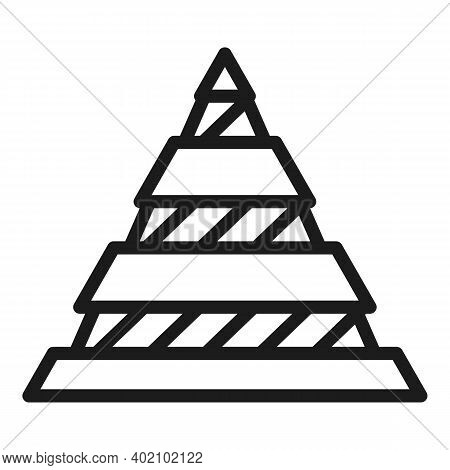 Hierarchy Pyramid Icon. Outline Hierarchy Pyramid Vector Icon For Web Design Isolated On White Backg